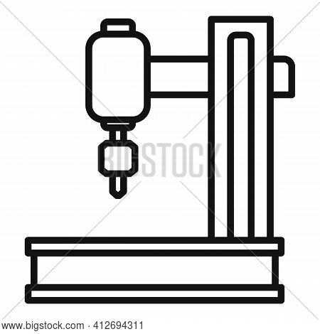 Laser Milling Machine Icon. Outline Laser Milling Machine Vector Icon For Web Design Isolated On Whi