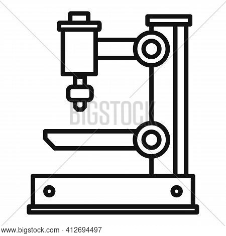 Electric Milling Machine Icon. Outline Electric Milling Machine Vector Icon For Web Design Isolated
