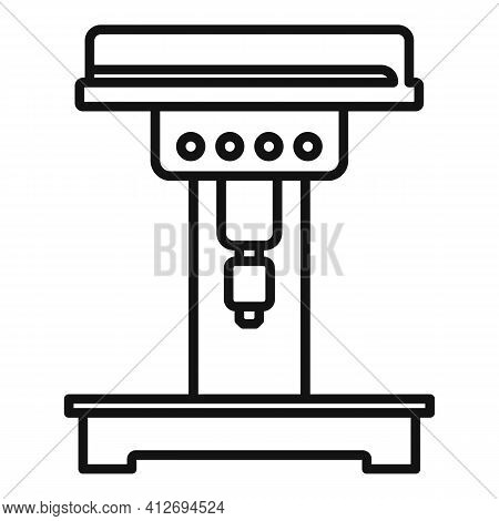 Engineer Milling Machine Icon. Outline Engineer Milling Machine Vector Icon For Web Design Isolated