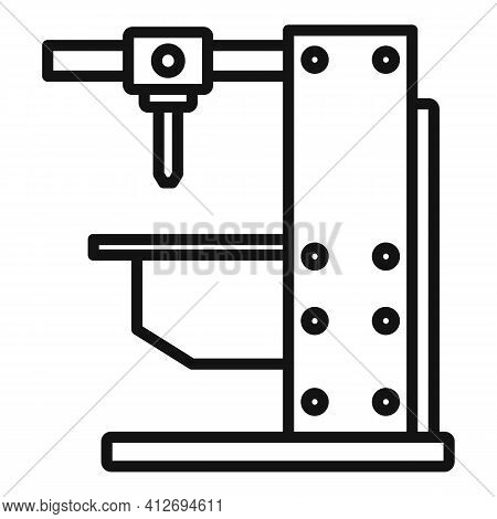 Milling Machine Equipment Icon. Outline Milling Machine Equipment Vector Icon For Web Design Isolate