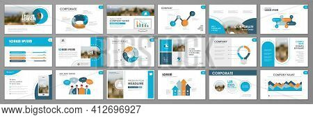 Business Presentation Infographic Elements Template Set. Keynote Presentation Background, Slide Temp