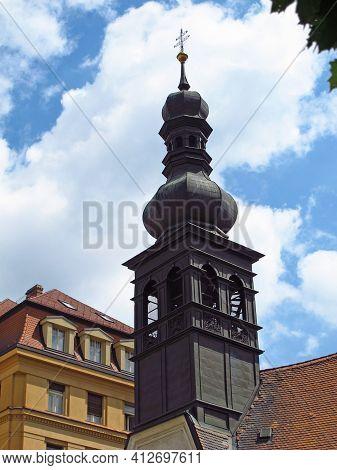 Bratislava, Slovakia - 10 Jun 2011: The Vintage Church In Bratislava City, Slovakia