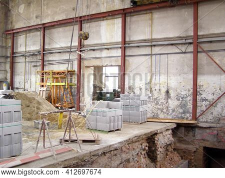 Old Building And Construction Equipment, Indoors