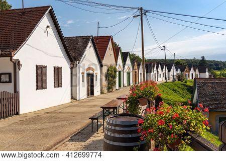 wine cellars in Villanykovesd, Villany, Hungary