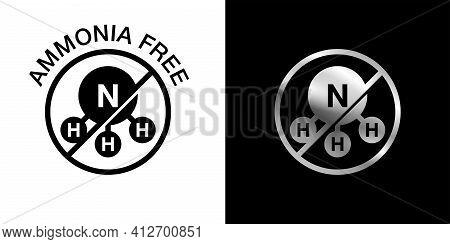 Ammonia Free Colour Icon - For Non-ammonia Hair Dye. Vector Emblem