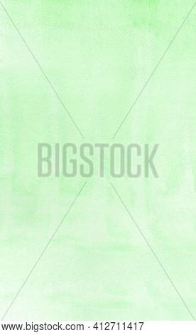 Vertical Green Mint Watercolour Background, Watercolour Painting Soft Textured On Wet White Paper Ba