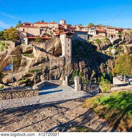 The Monastery Of Great Meteoron Is The Largest Monastery At Meteora. Meteora Is One Of The Most Prec