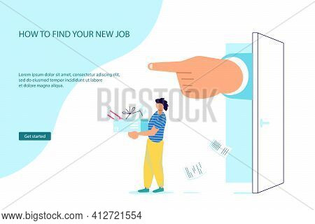 Landing Web Page Template Of Dismissal Employees