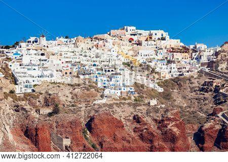 Oia Town In Santorini