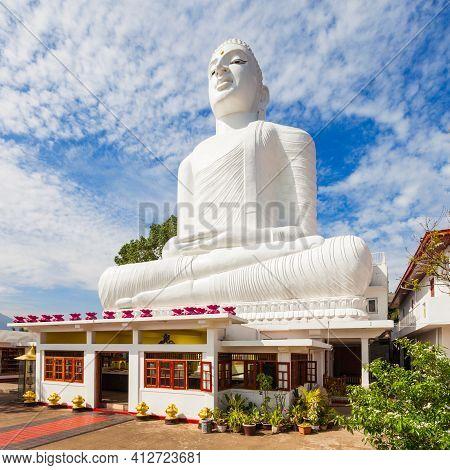 Bahirawa Kanda Or Bahirawakanda Vihara Buddha Statue In Kandy, Sri Lanka. Bahirawakanda Is A Giant S