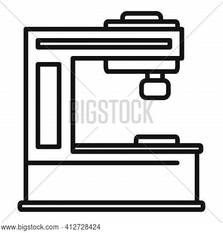 Cutter Milling Machine Icon. Outline Cutter Milling Machine Vector Icon For Web Design Isolated On W