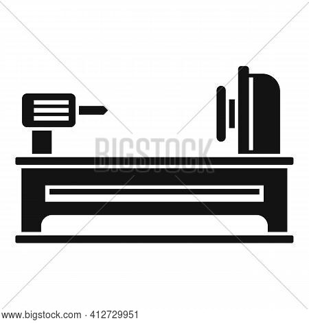 Electric Lathe Icon. Simple Illustration Of Electric Lathe Vector Icon For Web Design Isolated On Wh