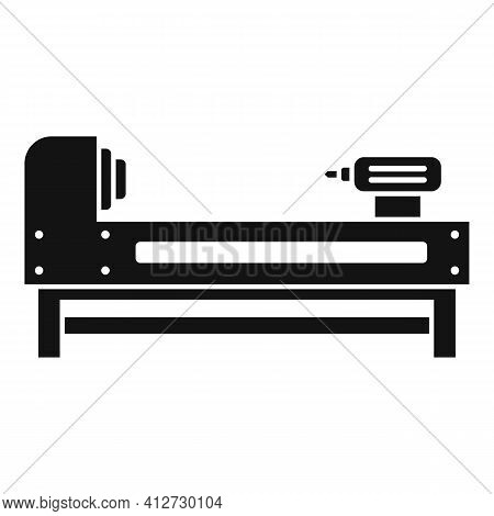Grinding Lathe Icon. Simple Illustration Of Grinding Lathe Vector Icon For Web Design Isolated On Wh