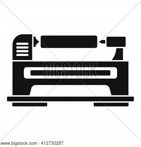 Control Lathe Icon. Simple Illustration Of Control Lathe Vector Icon For Web Design Isolated On Whit