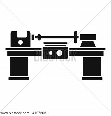 Work Lathe Icon. Simple Illustration Of Work Lathe Vector Icon For Web Design Isolated On White Back