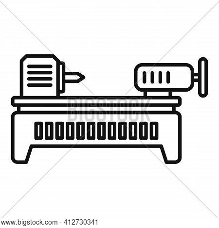 Lathe Icon. Outline Lathe Vector Icon For Web Design Isolated On White Background
