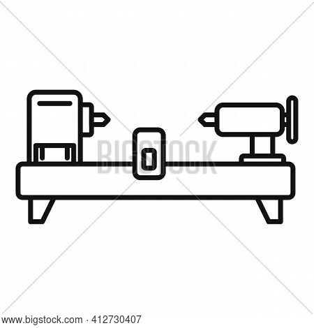 Drilling Lathe Icon. Outline Drilling Lathe Vector Icon For Web Design Isolated On White Background