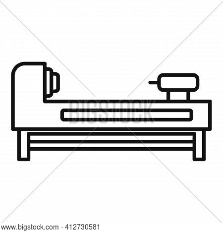 Grinding Lathe Icon. Outline Grinding Lathe Vector Icon For Web Design Isolated On White Background