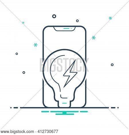 Mix Icon For Power Phone Strength Potency Vigor