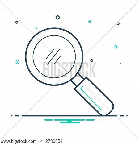 Mix Icon For Search Quest Discovery Finding Detection Magnifying-glass
