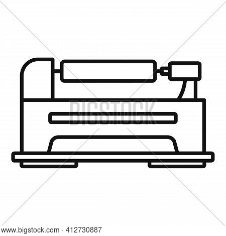 Control Lathe Icon. Outline Control Lathe Vector Icon For Web Design Isolated On White Background