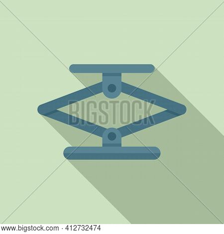 Jack Screw Icon. Flat Illustration Of Jack Screw Vector Icon For Web Design