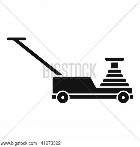 Hydraulic Lift Icon. Simple Illustration Of Hydraulic Lift Vector Icon For Web Design Isolated On Wh
