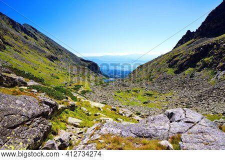 Mlynicka Valley in Vysoke Tatry (High Tatras), Slovakia. Mountain lanscape.