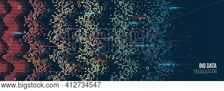 Machine Learning Algorithm. Waves Array Visual Concept. Big Data Visualization Algorithms. Computer