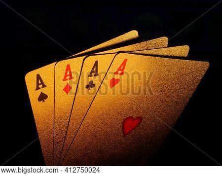 Golden Poker Blackjack Playing Cards, Casino Cards