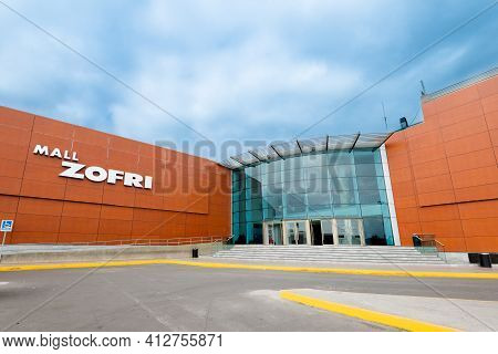 Iquique, Tarapaca Region, Chile, South America - July 10, 2015: Zofri Shopping Mall In The Duty-free