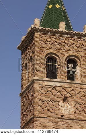 Photograph Of The Bell Tower Of The Church Of Our Lady Of The Rosary, Of Baroque Mudejar Architectur
