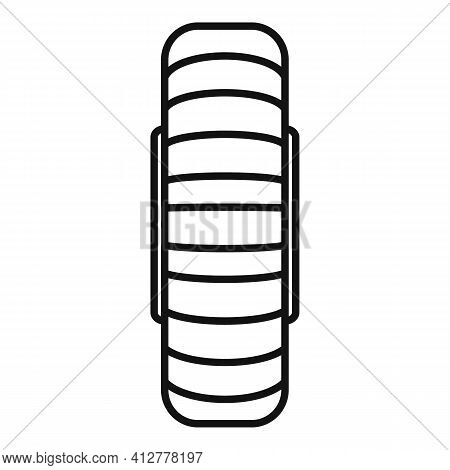 Spare Wheel Icon. Outline Spare Wheel Vector Icon For Web Design Isolated On White Background