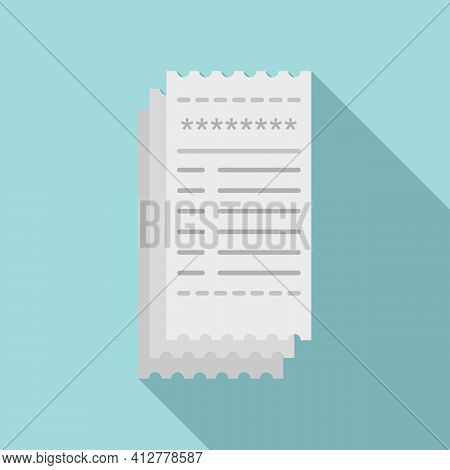 Payment Bill Icon. Flat Illustration Of Payment Bill Vector Icon For Web Design