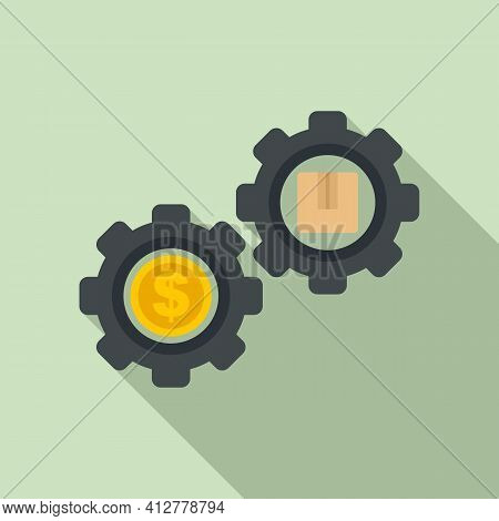 Purchase Mechanism Icon. Flat Illustration Of Purchase Mechanism Vector Icon For Web Design