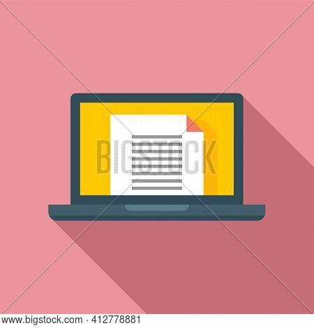 Laptop Manager Transaction Icon. Flat Illustration Of Laptop Manager Transaction Vector Icon For Web