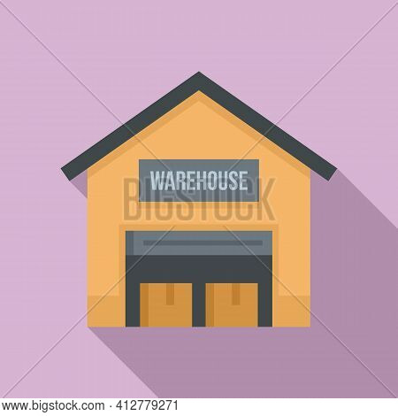 Warehouse Icon. Flat Illustration Of Warehouse Vector Icon For Web Design