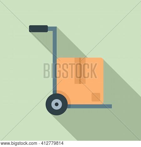 Warehouse Cart Icon. Flat Illustration Of Warehouse Cart Vector Icon For Web Design