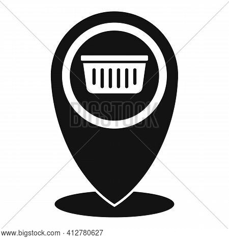 Shop Gps Pin Icon. Simple Illustration Of Shop Gps Pin Vector Icon For Web Design Isolated On White