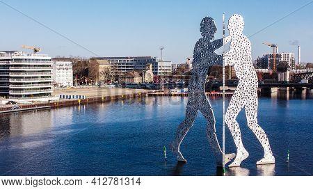 Famous Molecular Men Sculpture In Berlin - Berlin, Germany - March 11, 2021