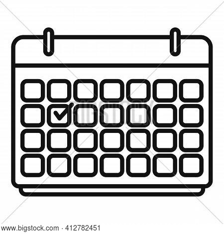 Purchasing Manager Calendar Icon. Outline Purchasing Manager Calendar Vector Icon For Web Design Iso