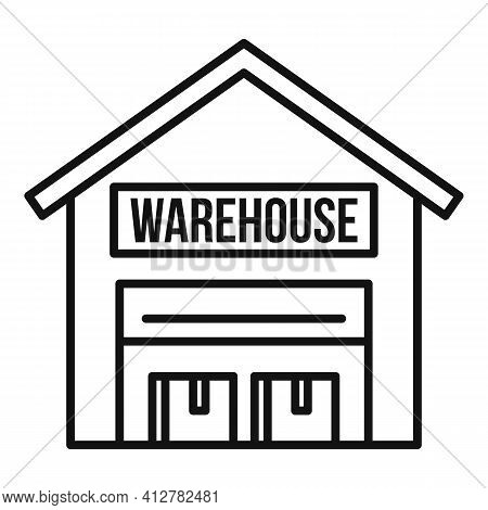Warehouse Icon. Outline Warehouse Vector Icon For Web Design Isolated On White Background