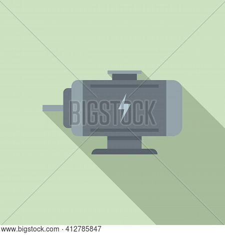 Hybrid Engine Icon. Flat Illustration Of Hybrid Engine Vector Icon For Web Design