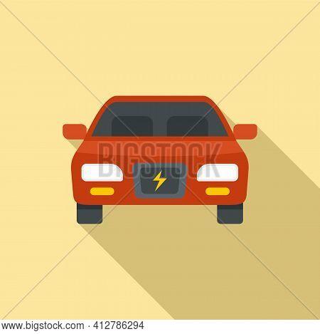 Modern Hybrid Car Icon. Flat Illustration Of Modern Hybrid Car Vector Icon For Web Design