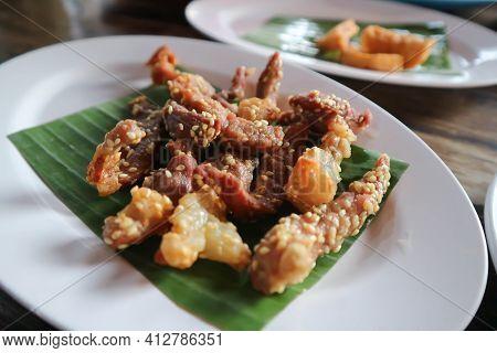 Belly Of Pork, Pork Or Fried Pork Or Garlic Pork