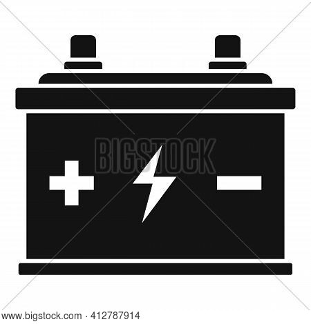 Eco Car Battery Icon. Simple Illustration Of Eco Car Battery Vector Icon For Web Design Isolated On