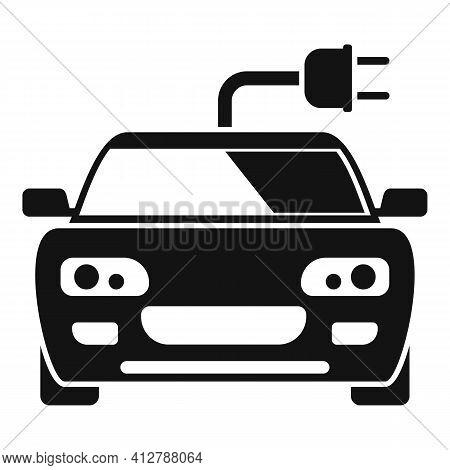 Sport Hybrid Car Icon. Simple Illustration Of Sport Hybrid Car Vector Icon For Web Design Isolated O