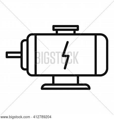 Hybrid Engine Icon. Outline Hybrid Engine Vector Icon For Web Design Isolated On White Background