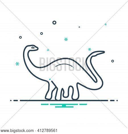 Mix Icon For Dinosaur Monster Jurassic Park Gigantic Enormous