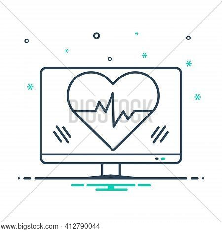 Mix Icon For Ehealth Healthcare Heartbeat Heart Online
